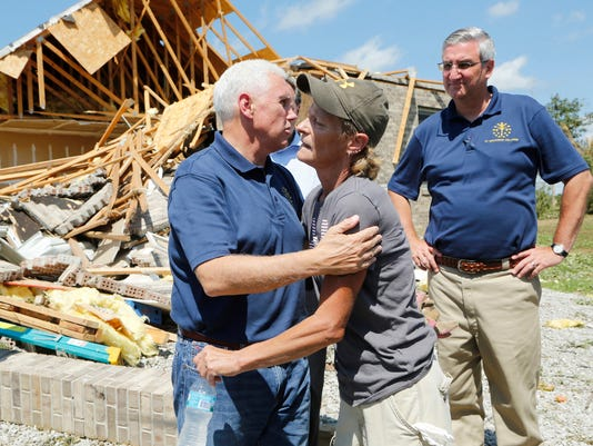 LAF Pence Visits Storm Damaged Montgomery County