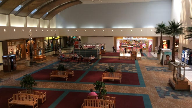 In the East Court, The Pretzel Place stands where the water fountain was when Westland Shopping Center opened in 1965.