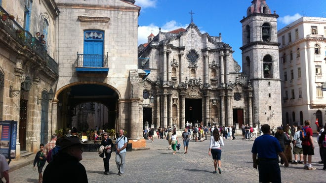 A town square in Havana, Cuba, where Kellogg Community Colleges visited last month.