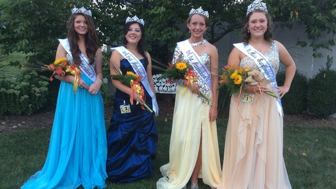 Royalty who will reign over this weekend's International Sunflower Festival in Frankfort has been selected. Shown at far right is Miss Sunflower Ali Smith and her court, from left, third attendant Alexis Jones, second attendant Kathryn Turner and first attendant Morgan Miller. A preview of the festival will appear Thursday in The Gazette.