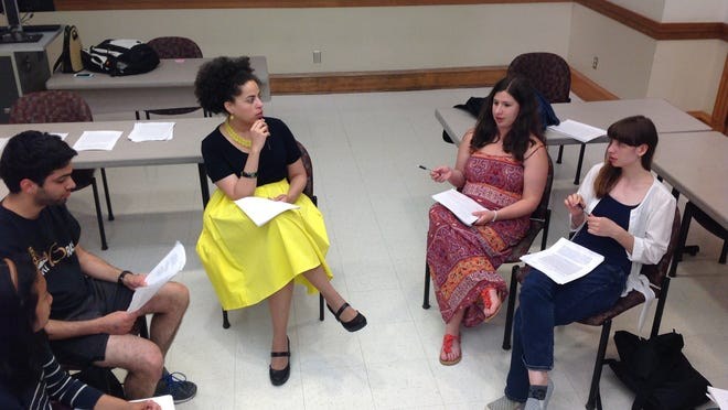 This photo shows the creative writing workshops held last summer as part of the University of Iowa's Between the Lines. The two-week writing camp, hosted by the International Writing Program, brings together teenage writers from the U.S., Russia and various Arabic-speaking countries.