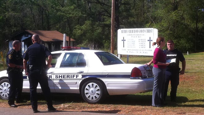 The Bossier Sheriff's office at work.