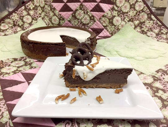 The chocolate stout cheesecake at Tracy Dempsey Originals.