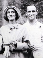 "Copy of a photo of Julius and Dorette Fleischmann, who traveled around the world in 1931-32 aboard their 225-foot yacht, Camargo. Artifacts they collected are part of the Cincinnati Museum Center's ""Treasures of Travel: Cincinnatians Collect the World."""