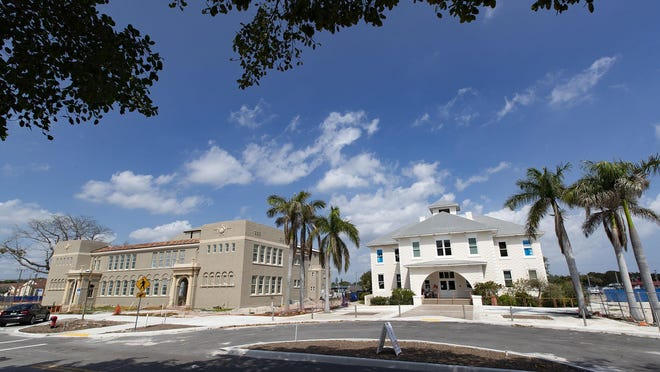 The new Boynton Beach Cultural Center (left) and the Schoolhouse Children's Museum & Learning Center on E. Ocean Drive in the city's downtown Town Square project in Boynton Beach, March 5, 2020.