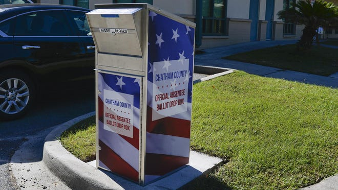 Absentee Ballot Drop Box at the W. W. Law Center