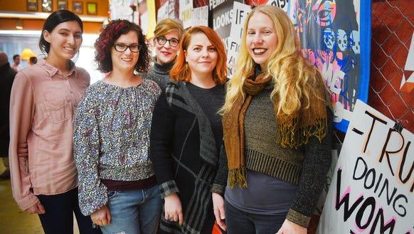 Artists Tatiana Gonzalez, from left, Randi Gochal,