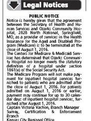 This notice regarding Ozarks Community Hospital was