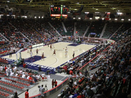 The New York state boys basketball tournament at the