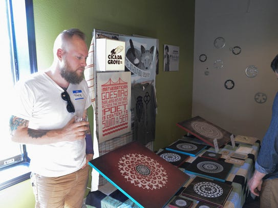 Artist and Owner of Cicada Grove, Tony Streeter, 35,