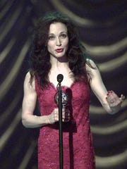 """Bebe Neuwirth accepts the Tony Award for Best Leading Actress in a Musical for her role in """"Chicago"""" at the 51st Annual Tony Awards at Radio City Music Hall on Sunday, June 1, 1997. She will perform her latest cabaret show, """"All I Care about Is Love,"""" on July 16 at Union County Performing Arts Center in Rahway."""