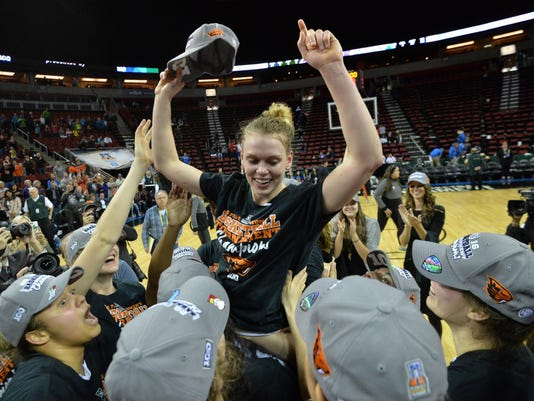 NCAA Womens Basketball: Pac-12 Conference Tournament Championship-UCLA vs Oregon State