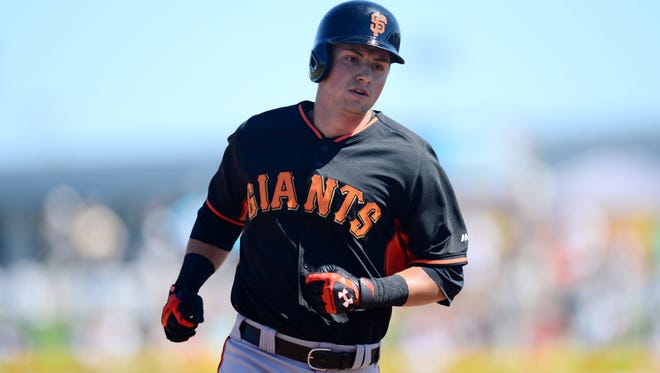 Giants second baseman Joe Panik enters 2015 as the incumbent after his surprise contributions to a World Series team.