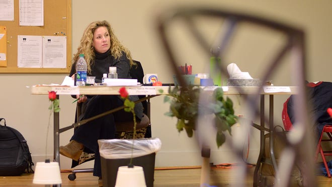 """Molly Smith Metzler in rehearsal for her play """"Cry it Out"""" in Actors Theatre of Louisville's 2017 Humana Festival of New American Plays."""