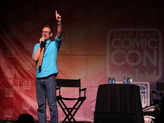 Salt Lake Comic Con emcee Chris Provost riles up a