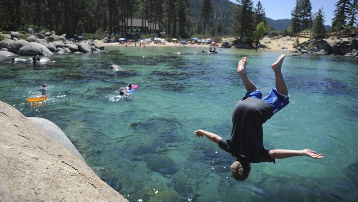 Here's a huge list of Lake Tahoe beaches and campgrounds