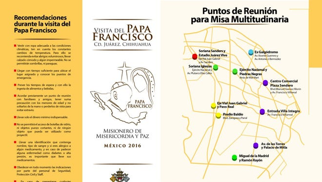 The Juarez diocese has finalized the drop off and pick up sites for those who want to take the bus to the Papal Mass.