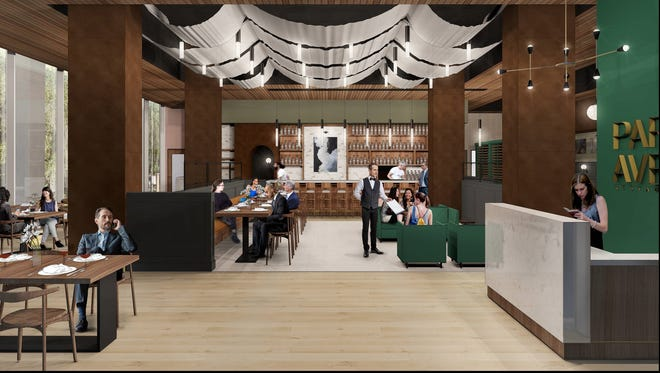 First glimpse into the high-end restaurant being built on the bottom floor of the Ballard Building in downtown Tallahassee by the owners of Sage Restaurant.