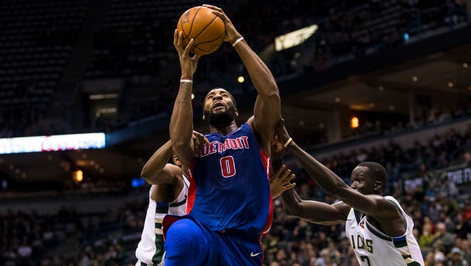 Andre Drummond had 27 points and 20 rebounds against the Bucks on Wednesday night.