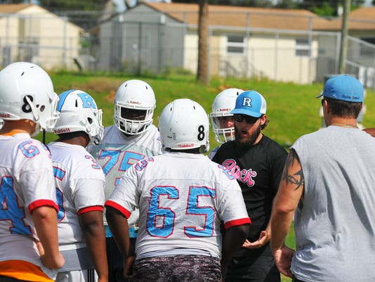 First day Rockledge football Practice