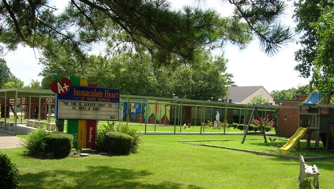 Immaculate Heart of Mary Catholic School is pictured in Lafayette, La.