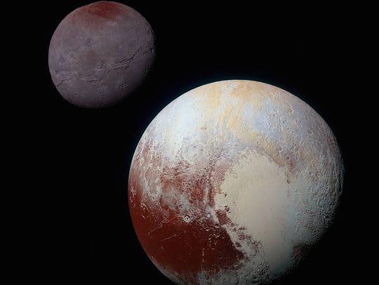 Travel to Pluto and its moon Charon, as seen by NASA's