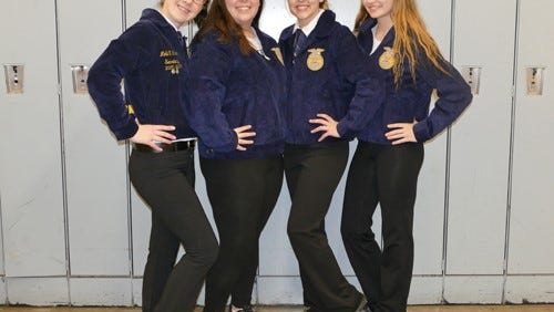 Cumberland Regional High School's Farm Business Management Team placed first in the New Jersey State FFA Winter Online Career Development Event.