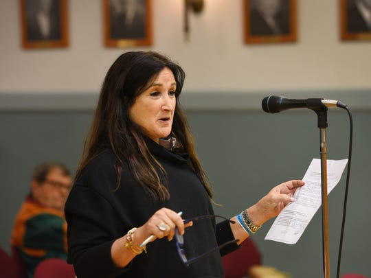 Deborah Hardesty, seen here at a 2017 meeting, spoke out against the plan, Monday.