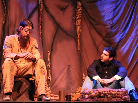 """Confederate soldier Brandon (Jordan Wilson, left) and Timothy (Michael J. Pineda) get to know each other in Theatre Conspiracy's """"The Cave."""""""