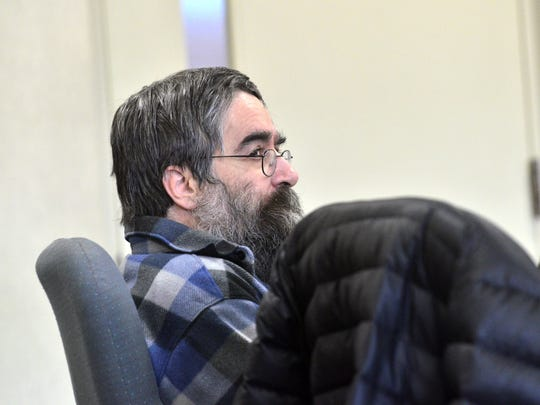 Murder suspect Jose Pazos, 51, appears in Vermont Superior Court in Burlington on March 13, 2017. Pazos has been hospitalized for about three years in an effort to restore his competency.