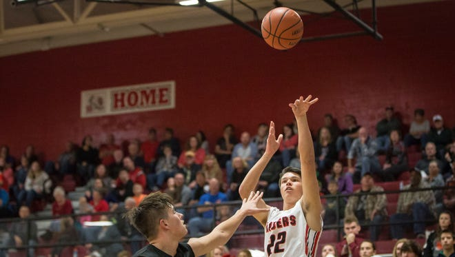 Wapahani's Drew Luce, shown here earlier this season against Winchester, scored 12 points in the win over Wes-Del.