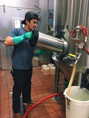 Jaret Salvat-Rivera, Wilmington-area resident and lead brewer at Iron Hill's Ardmore, Pennsylvania location, is the man behind the new Gozer gose.