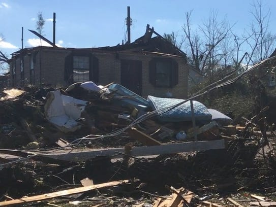 Trey Sullivan's home was one of hundreds destroyed