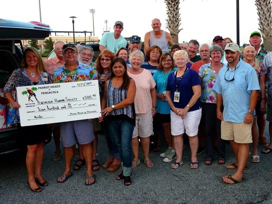 The Parrot Heads of Pensacola recently donated $500