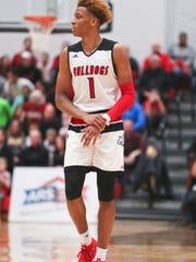 New Albany's Romeo Langford holds his shooting hand