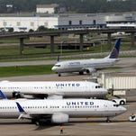 United Airlines planes at George Bush Intercontinental Airport on July 8, 2015.