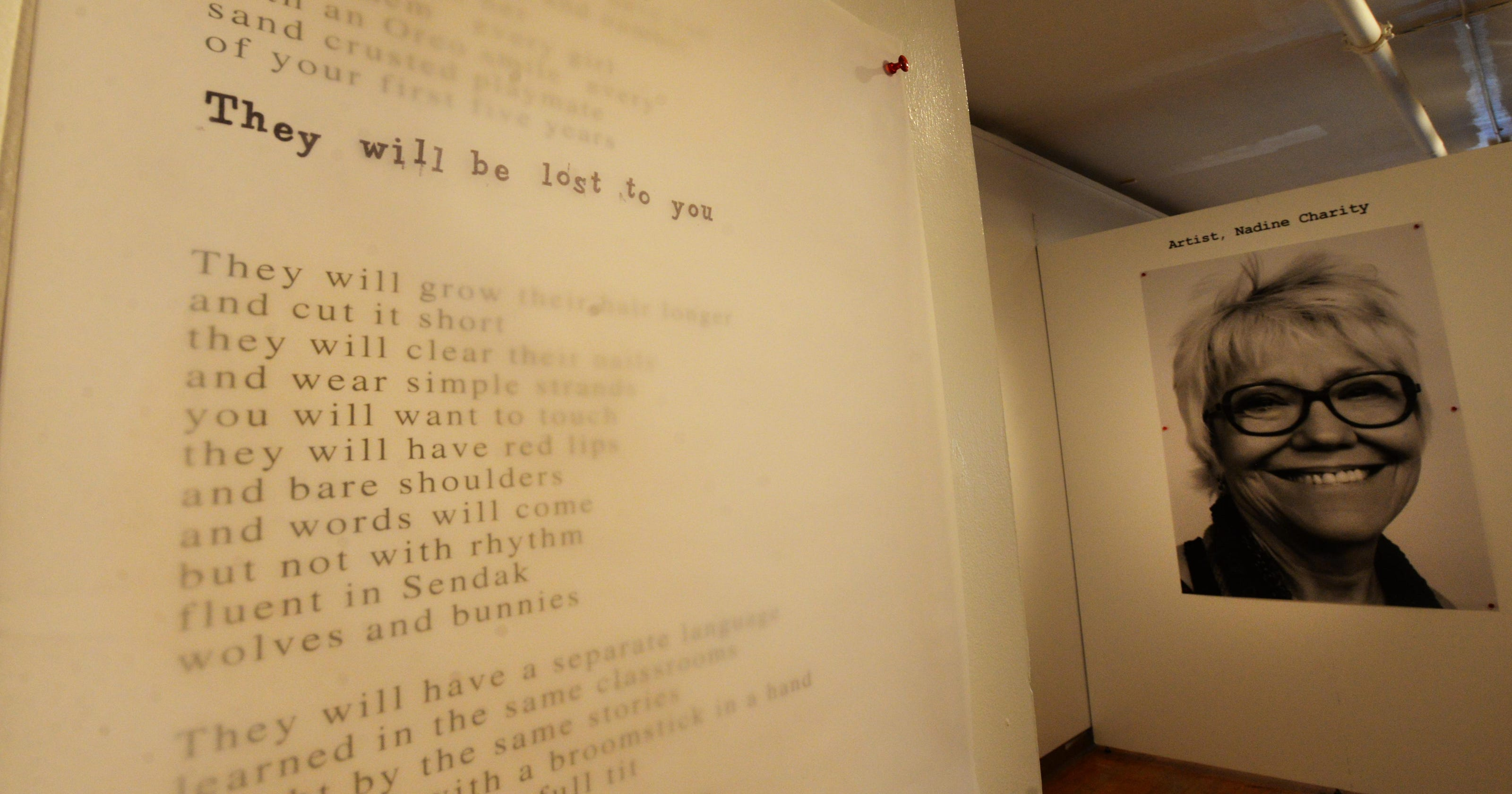 """National critic """"engaged"""" by local poet's exhibition"""