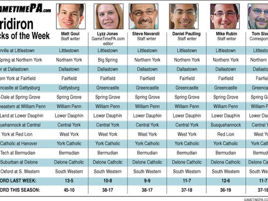 WEEK 3 PREDICTIONS: Click the image to view at a larger size.