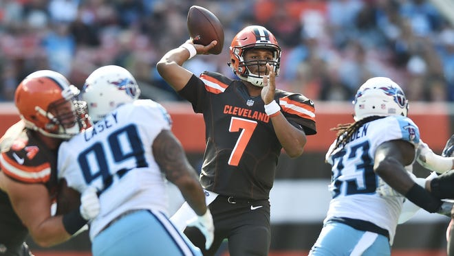 DeShone Kizer is part of the Browns' dizzying quarterback rotation.