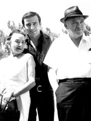 """James Drury, the star of """"The Virginian,"""" is shown in this undated photo taken in Salem with his parents, Beatrice and James Crawford Sr. Drury grew up in both Salem and New York, where his father was a professor."""