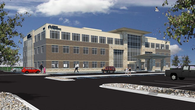 A rendering of the future St. John Providence ambulatory care center in Howell.