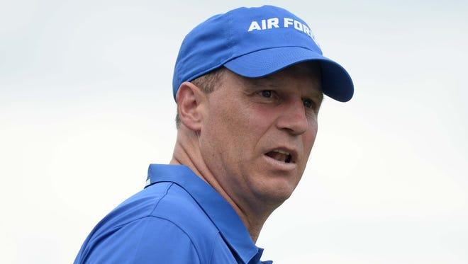 Coach Troy Calhoun's Air Force Falcons fell 45-42 at Nevada on Saturday night, their fourth loss in a row.