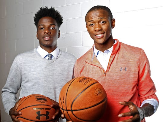 Ranney basketball superstars Bryan Antoine (left) and