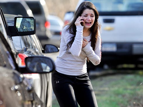 Carlee Soto learns her sister, Victoria Soto, a teacher at the Sandy Hook Elementary School, was one of 26 people killed in a shooting at the school in Newtown, Conn.