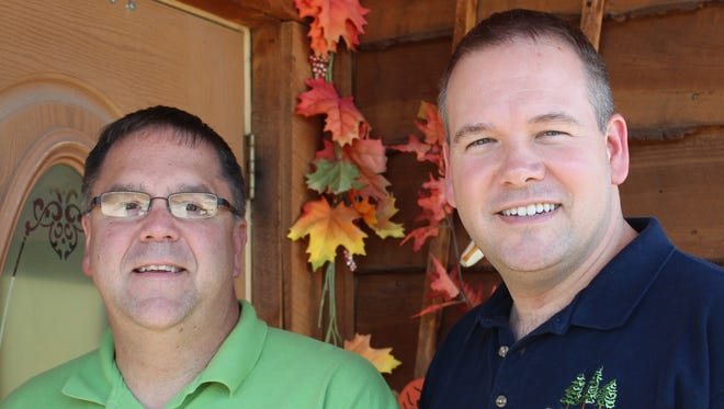 Kevin Hillman, left, and Troy Preston own Fran's Landing in Painted Post.