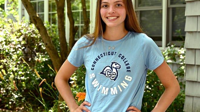 Connecticut College swimmer Emma Diianni, 19, of Wayland.