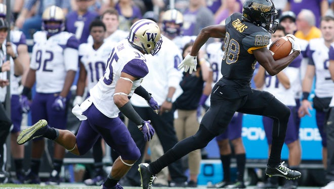Southern Miss' Michael Thomas hopes to be selected in this year's NFL draft.
