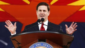 Gov. Doug Ducey at his inauguration in January.