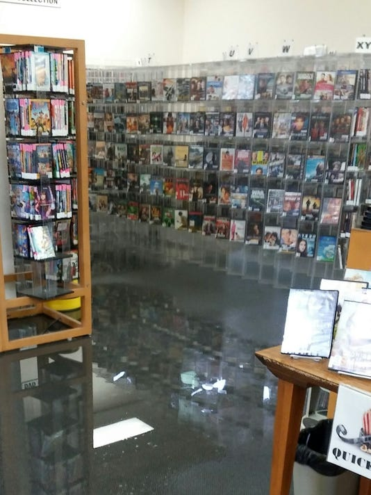 Water damage at Cocoa Beach Library