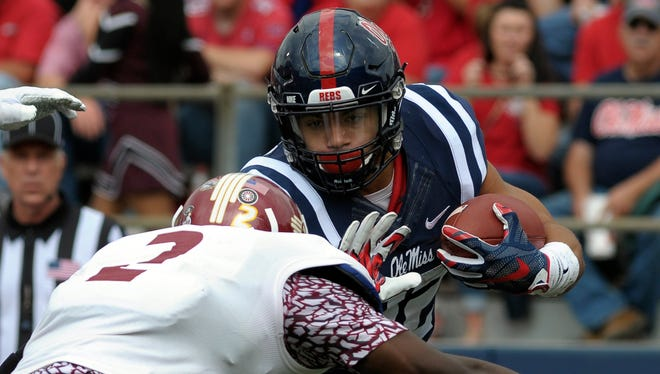 Ole Miss' Jordan Wilkins and the rest of the Rebels' running backs could see an improvement in their run game Saturday against Texas A&M.